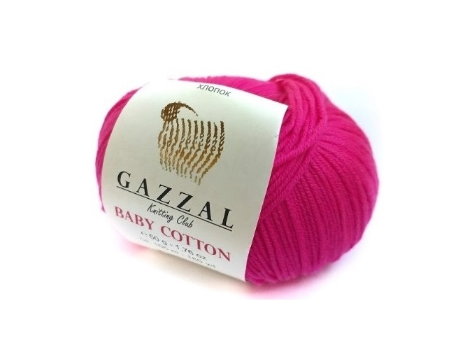 Gazzal Baby Cotton, 60% Cotton, 40% Acrylic 10 Skein Value Pack, 500g фото 104
