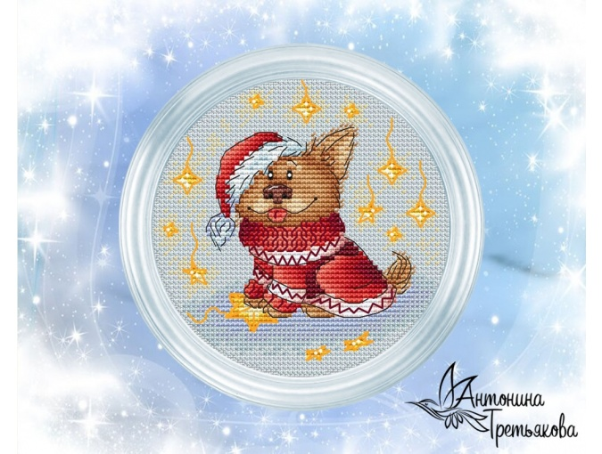 Eastern Calendar. Dog Cross Stitch Pattern фото 1
