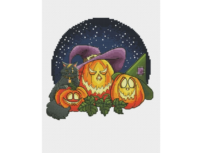 Pumpkin Trio 1 Cross Stitch Pattern фото 1