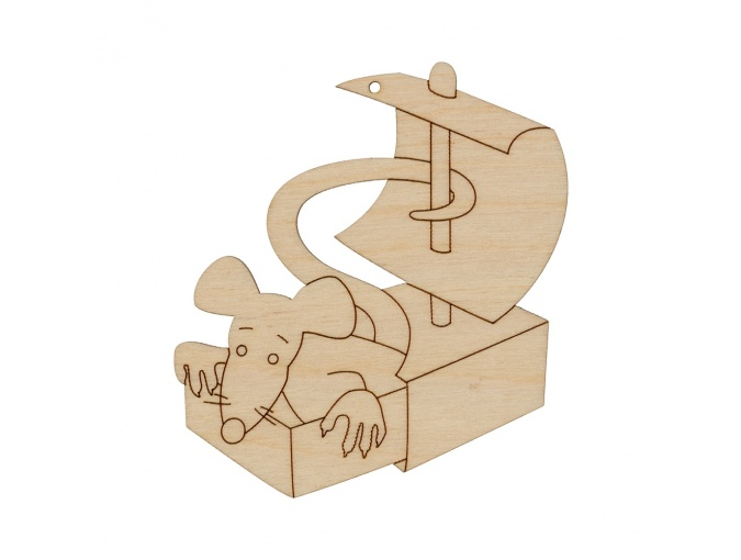 Wooden Rat in a Box фото 1