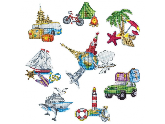 Magnets. Round the World Cross Stitch Kit фото 1