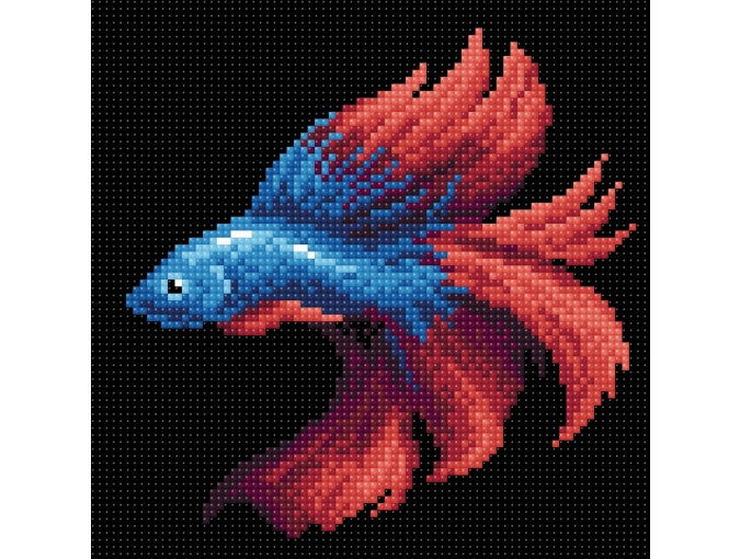 Red Fish Diamond Painting Kit фото 1