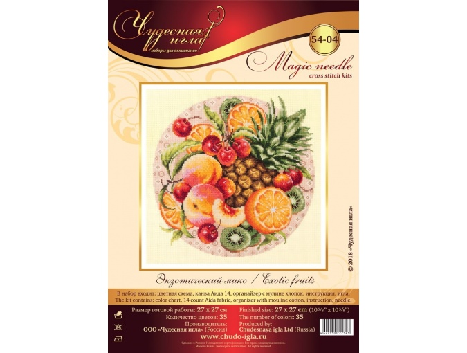 Exotic Fruits Cross Stitch Kit фото 2