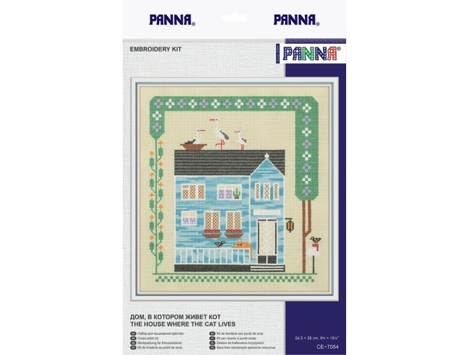 The House Where the Cat Lives Cross Stitch Kit фото 2