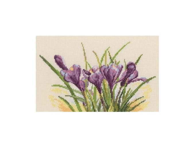 Spring Crocuses Cross Stitch Kit фото 1