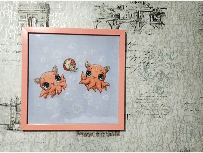 Cute Octopuses Cross Stitch Pattern фото 2