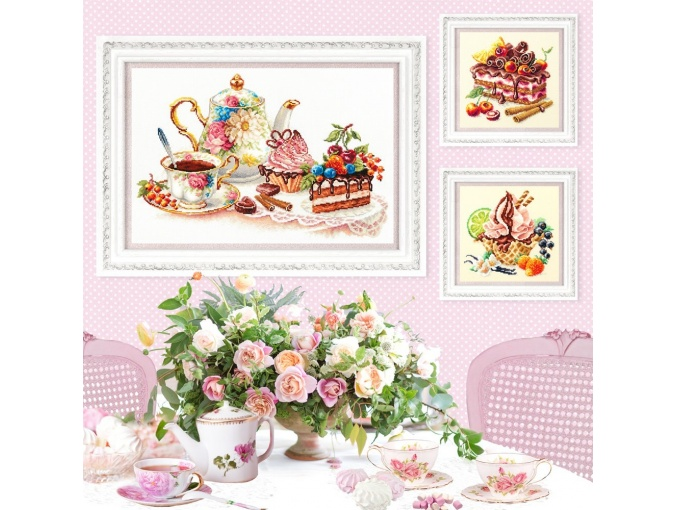 Vanilla Ice Cream Cross Stitch Kit фото 6