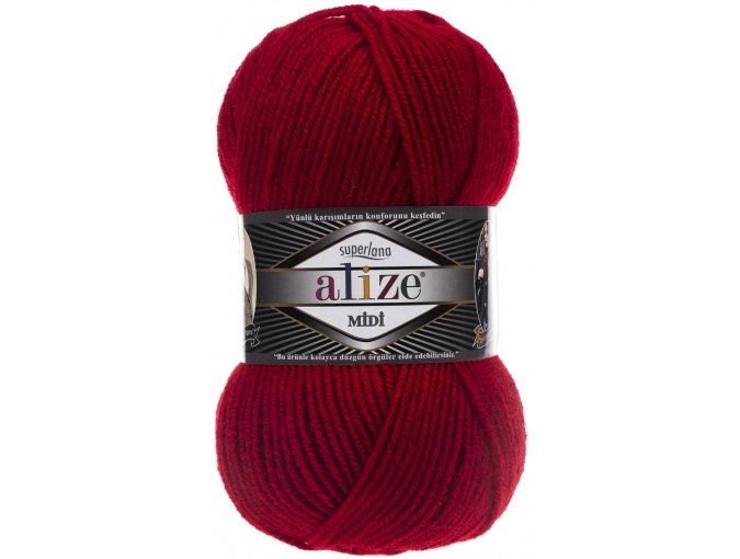 Alize Superlana Midi 25% Wool, 75% Acrylic, 5 Skein Value Pack, 500g фото 9