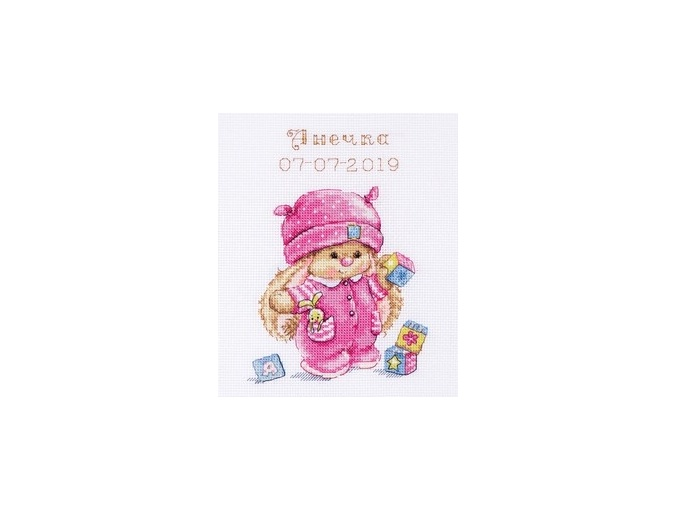 Bunny Mi Baby Girl Cross Stitch Kit фото 1