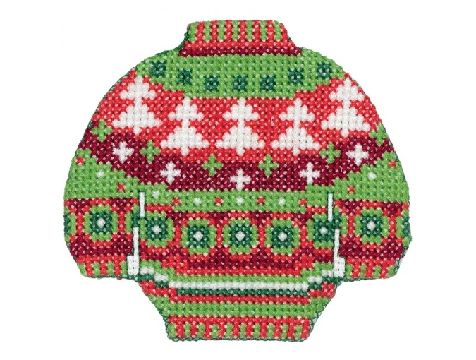 Christmas Trees Sweater Cross Stitch Kit фото 2