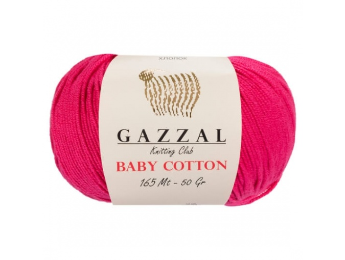 Gazzal Baby Cotton, 60% Cotton, 40% Acrylic 10 Skein Value Pack, 500g фото 12