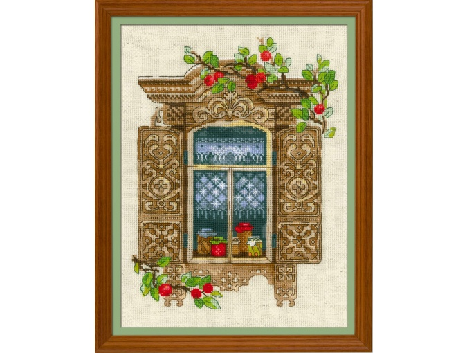 Window With Apples Cross Stitch Kit фото 1