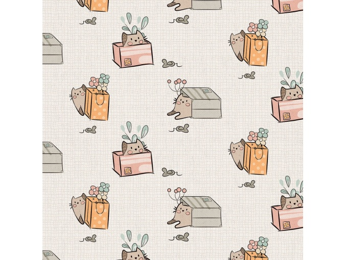 Fat Quarter Peppy, print Beige MP-10 фото 1