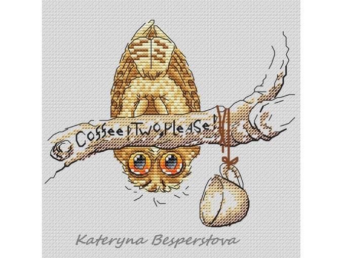 Coffee! Give Two! Cross Stitch Pattern фото 1