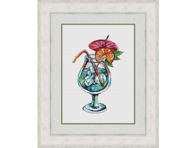 Cocktail Blue Lagoon Cross Stitch Pattern фото 1