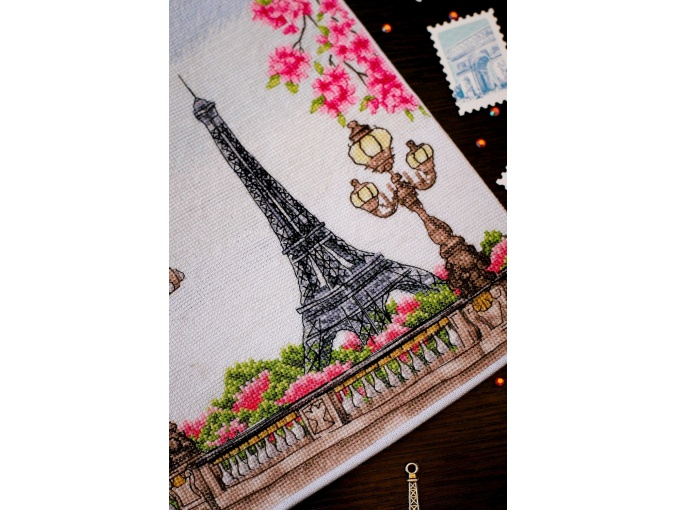 Spring in Paris Cross Stitch Chart фото 4