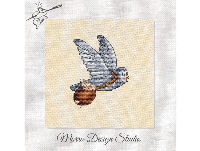 Wizard's Sampler. Owl Cross Stitch Pattern фото 1