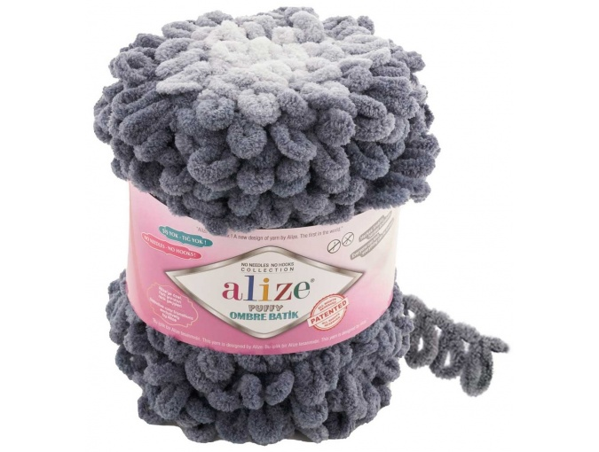 Alize Puffy Ombre Batik, 100% Micropolyester 1 Skein Value Pack, 600g фото 7