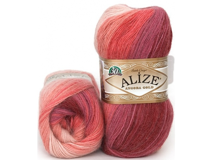 Alize Angora Gold Batik, 10% mohair, 10% wool, 80% acrylic 5 Skein Value Pack, 500g фото 39