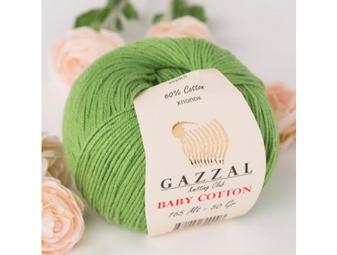 Gazzal Baby Cotton, 60% Cotton, 40% Acrylic 10 Skein Value Pack, 500g фото 78