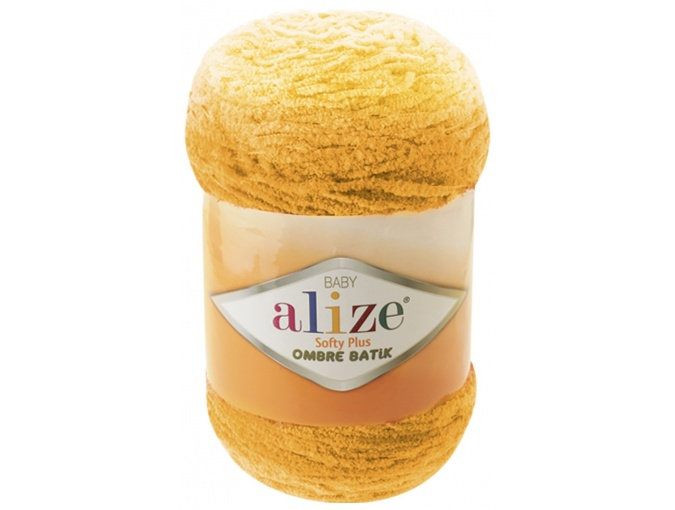Alize Softy Plus Ombre Batik, 100% Micropolyester 1 Skein Value Pack, 500g фото 6