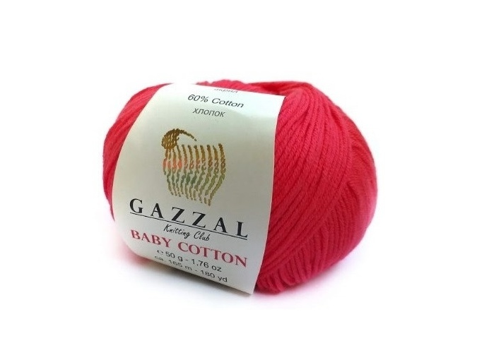 Gazzal Baby Cotton, 60% Cotton, 40% Acrylic 10 Skein Value Pack, 500g фото 98