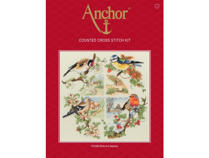Birds and Seasons Cross Stitch Kit фото 2