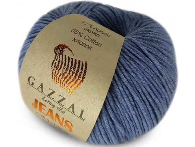 Gazzal Jeans, 58% Cotton, 42% Acrylic 10 Skein Value Pack, 500g фото 34