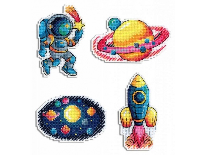 Space Magnets Cross Stitch Kit фото 1