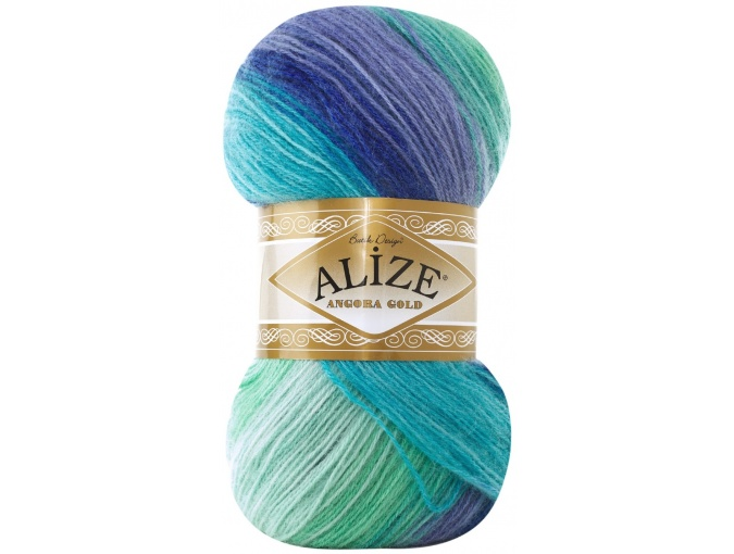 Alize Angora Gold Batik, 10% mohair, 10% wool, 80% acrylic 5 Skein Value Pack, 500g фото 54
