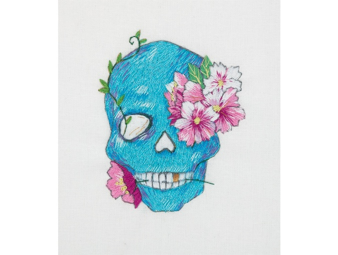 Floral Skull Embroidery Kit фото 1