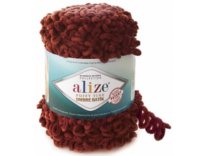 Alize Puffy Fine Ombre Batik, 100% Micropolyester 1 Skein Value Pack, 500g фото 15