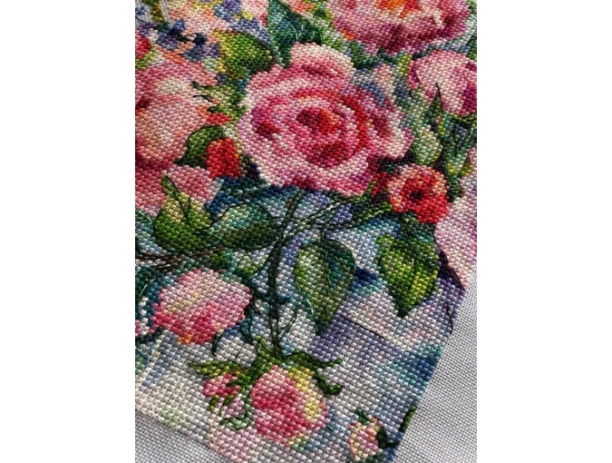 Bouquet of Roses Cross Stitch Chart фото 4