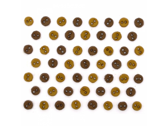 MM Round Browns Set of Decorative Buttons фото 1