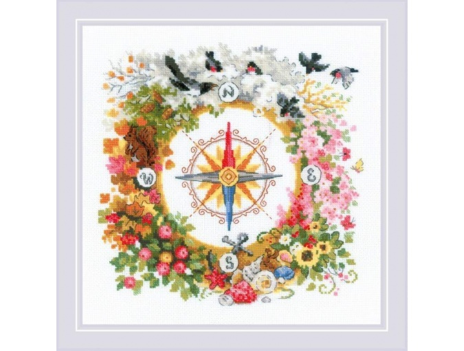 Compass Cross Stitch Kit фото 1
