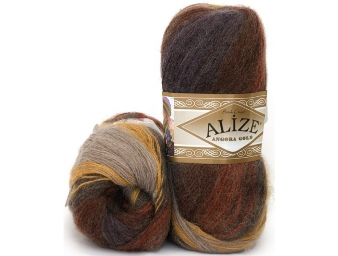 Alize Angora Gold Batik, 10% mohair, 10% wool, 80% acrylic 5 Skein Value Pack, 500g фото 17