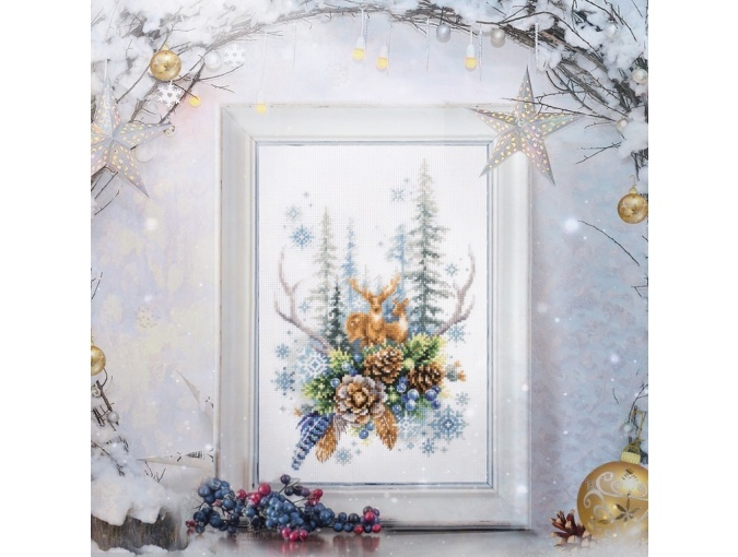 Winter Forest Spirit Cross Stitch Kit фото 4