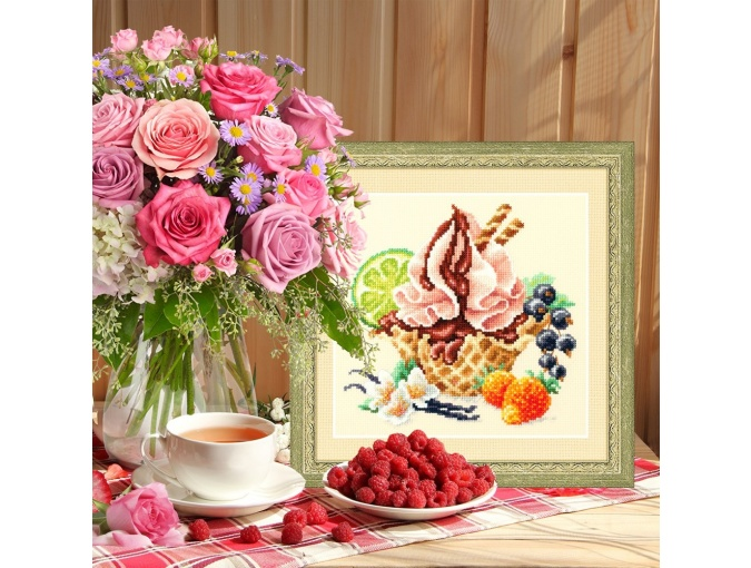 Vanilla Ice Cream Cross Stitch Kit фото 4