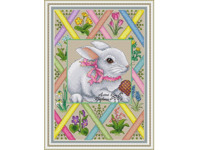 Spring Bunny Cross Stitch Chart фото 1