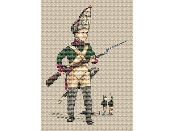 Little Grenadier Cross Stitch Pattern фото 1