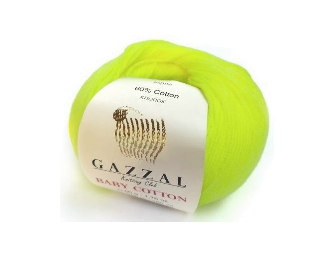 Gazzal Baby Cotton, 60% Cotton, 40% Acrylic 10 Skein Value Pack, 500g фото 106