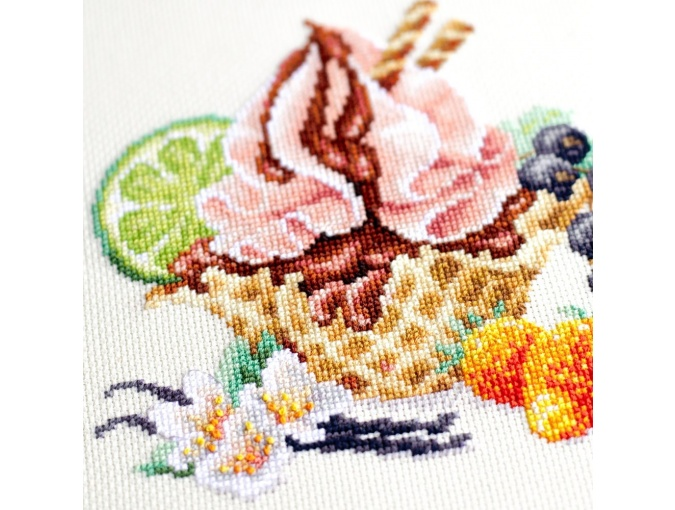 Vanilla Ice Cream Cross Stitch Kit фото 9