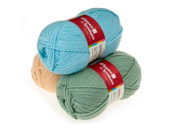 Troitsk Wool Countryside, 50% wool, 50% acrylic 10 Skein Value Pack, 1000g фото 1