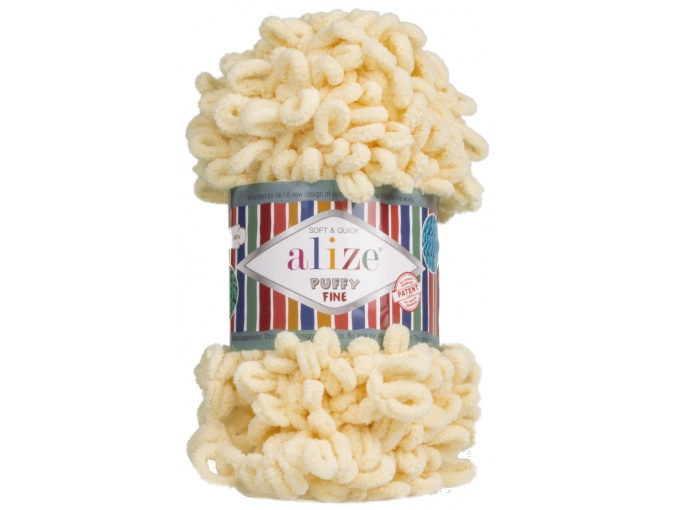 Alize Puffy Fine, 100% Micropolyester 5 Skein Value Pack, 500g фото 14