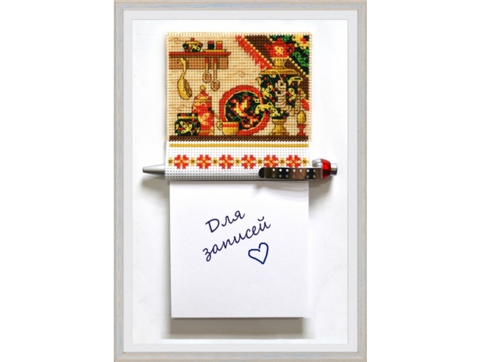 Magnet with a Notepad Hochloma Cross Stitch Kit фото 1