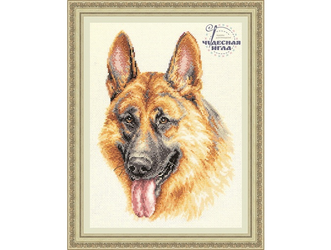 German Shepherd Cross Stitch Kit фото 1