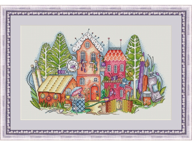 City of Crafts Cross Stitch Pattern фото 1