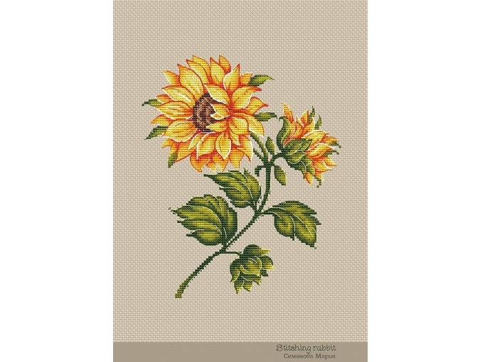 Sunflower Cross Stitch Pattern фото 2