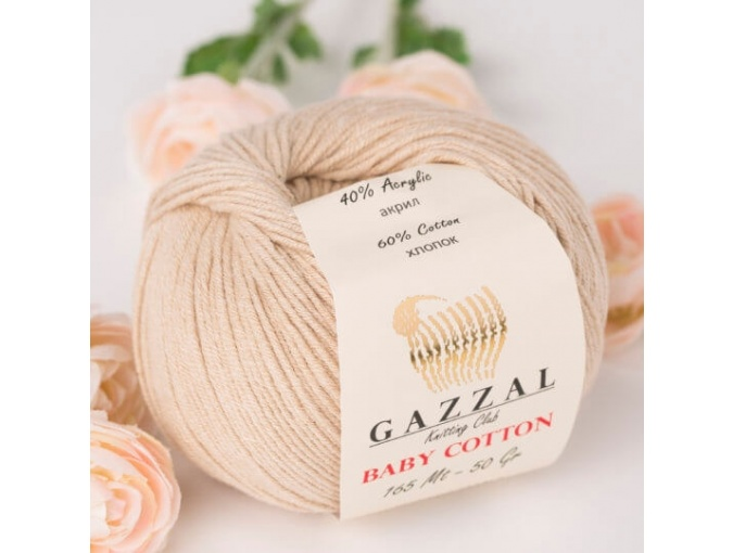 Gazzal Baby Cotton, 60% Cotton, 40% Acrylic 10 Skein Value Pack, 500g фото 74
