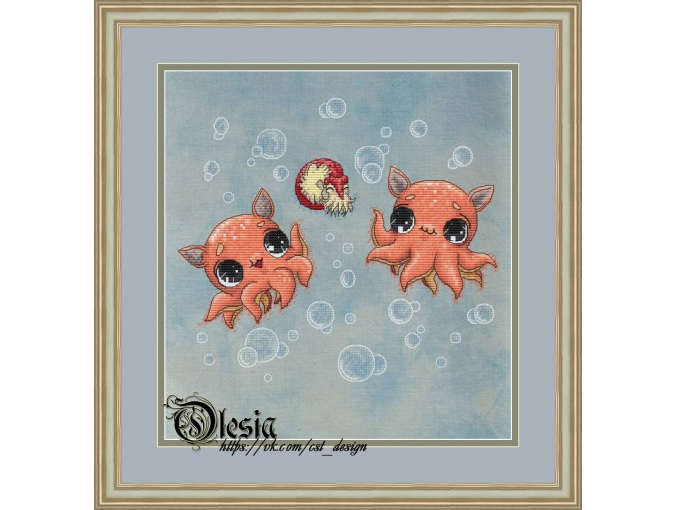 Cute Octopuses Cross Stitch Pattern фото 1
